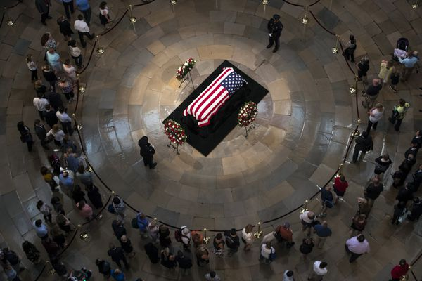 Sen. John McCain honored at U.S. Capitol: 'He represented all of America in the way he conducted himself'