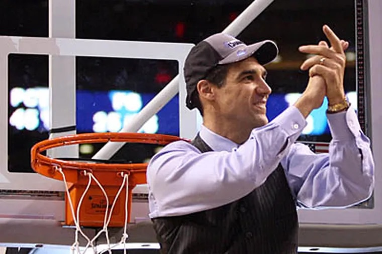 After leading 'Nova to the Final Four in 2009, Jay Wright has been named the Daily News Sportsperson of the year. (Yong Kim/Staff Photographer)