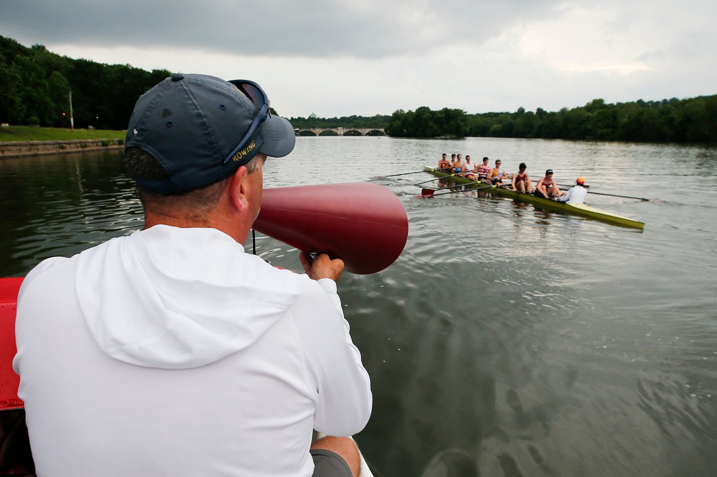 St. Joseph's Prep's varsity eight ready to row at Henley-on-Thames