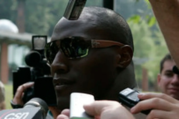 Takeo Spikes, starting his 10th NFL training camp, gets on a roll with the press. He told reporters he travels with his own toilet paper.