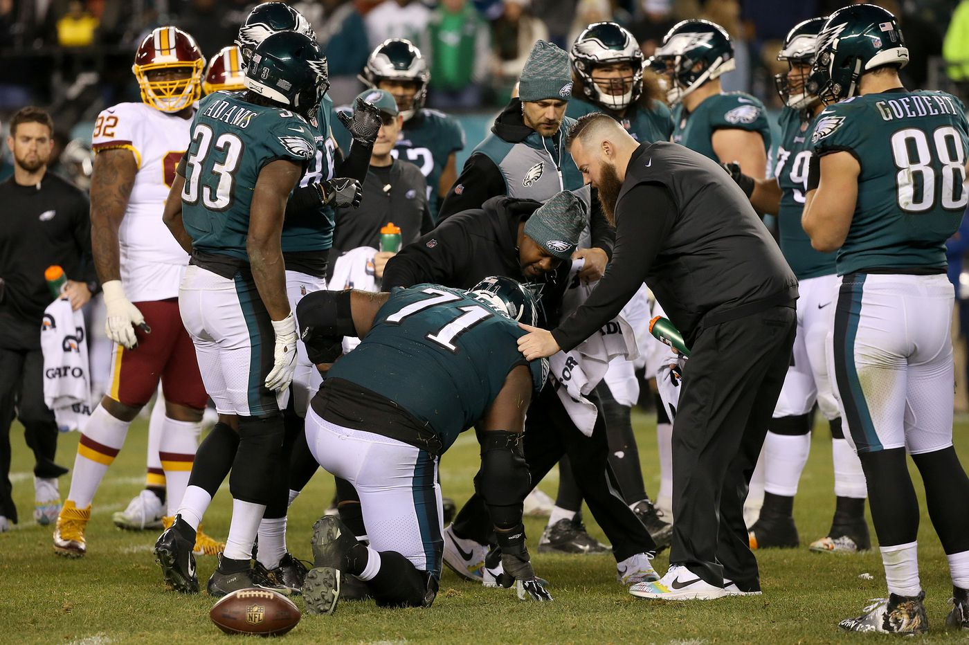 Eagles' Doug Pederson thinks Jason Peters can play this week against Washington