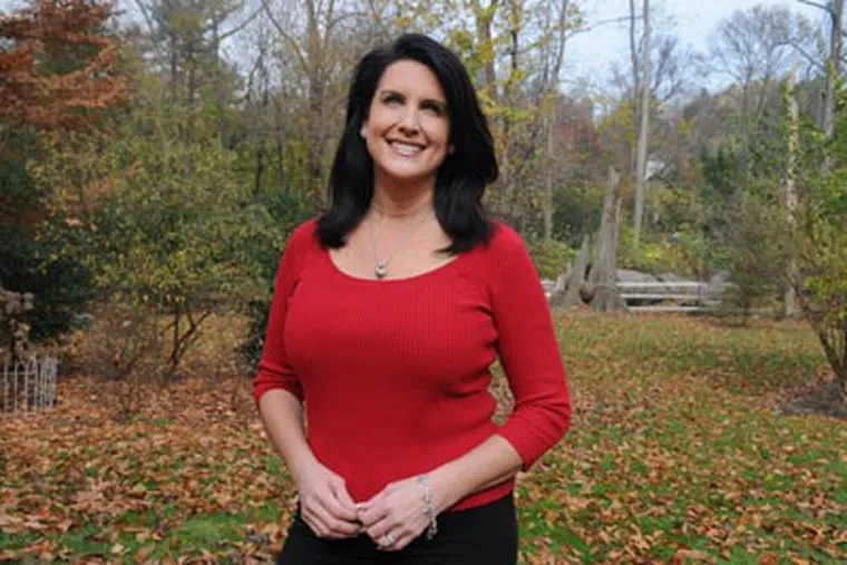 Dawn Stensland, former Fox 29 news anchor, is said to be considering a run for Congress in Delaware County.  (Sarah J. Glover / Staff Photographer)
