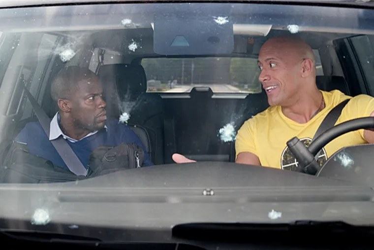 """Kevin Hart and Dwayne """"The Rock"""" Johnson in """"Central Intelligence."""""""
