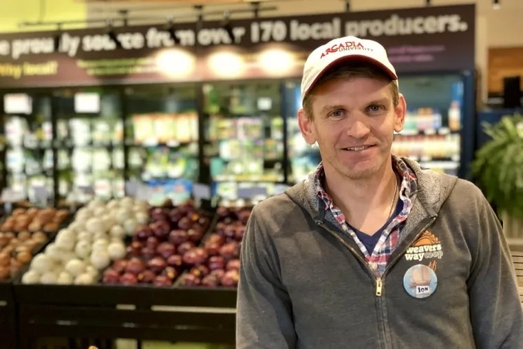 Jon Roesser, general manager, Weavers Way Cooperative Association, at the Ambler co-op.