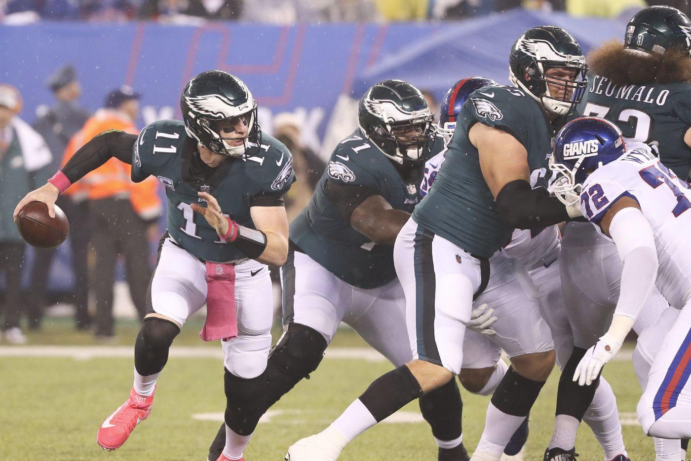 Eagles' offensive line struggles still prevalent in win against Giants | Bob Ford