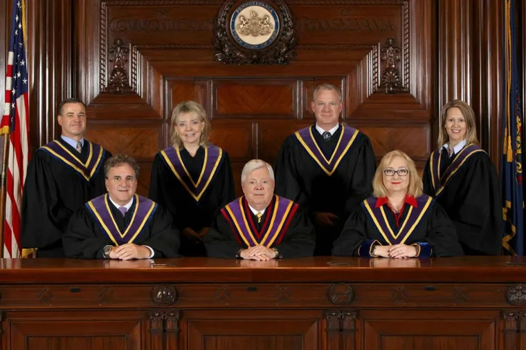The Pennsylvania Supreme Court justices.