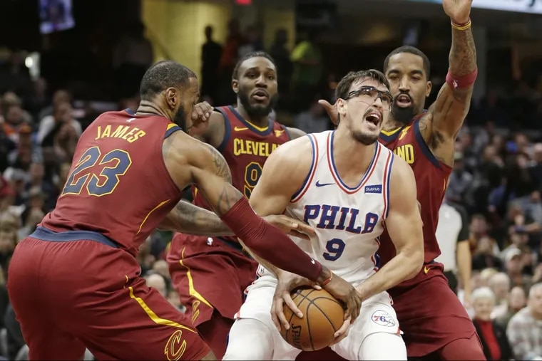 Dario Saric (eye injuries) was cleared to play just before the start of Saturday's game in Cleveland. He put up 17 points, nine rebounds, and six assists in the Sixers' 105-98 loss to the Cavaliers.
