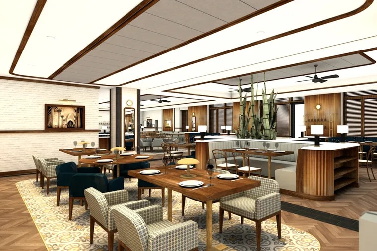 Rendering of the dining room of The Refectory at Villanova University.