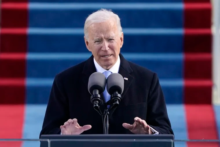 President Joe Biden speaks during the 59th Presidential Inauguration at the U.S. Capitol in Washington. The Biden administration is taking quick steps to keep the United States in the World Health Organization, part of his ambition to launch a full-throttle effort to fight the COVID-19 pandemic.