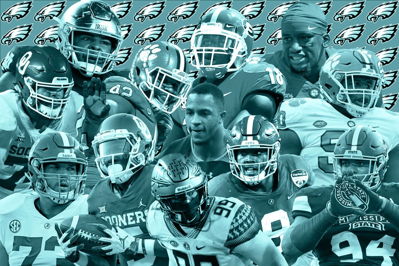 Which player will the Eagles draft at No. 25?