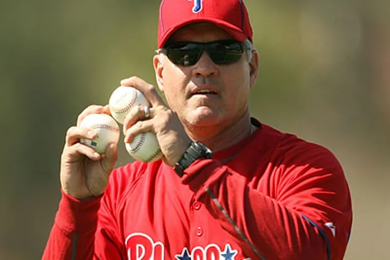 Ryne Sandberg will make his second big-league debut with the Phillies in April. (Yong Kim/Staff file photo)