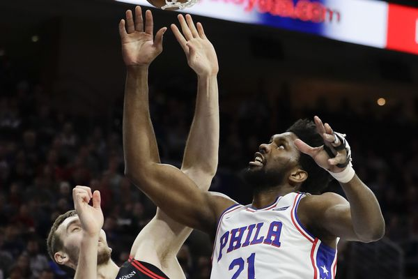 Sixers' Joel Embiid silences home crowd with late three, but remains frustrated with his performance
