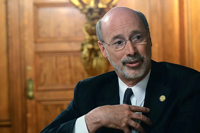 Gov. Wolf says his extraction fee would generate $1 billion per year, but natural-gas industry officials disagree. MARC LEVY / ASSOCIATED PRESS