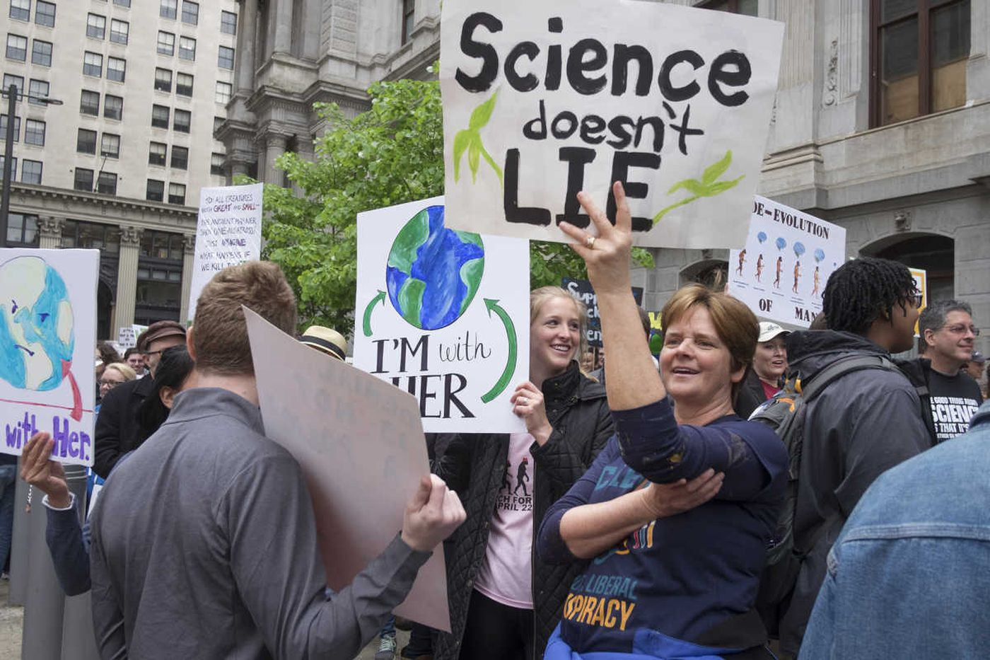 Science supporters take to Center City streets to protest budget cuts