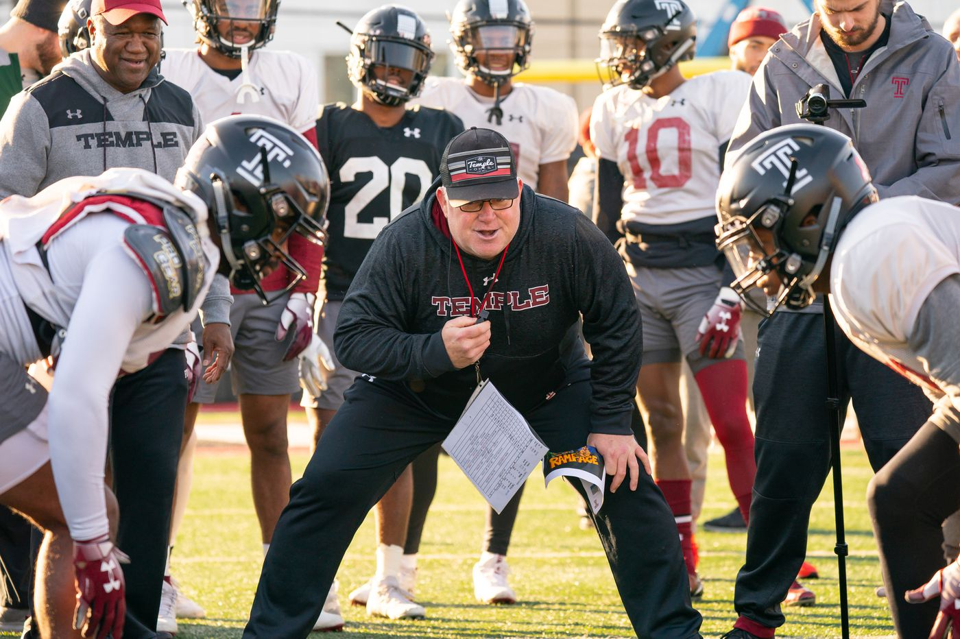 Temple interim Ed Foley coaching Thursday's Independence Bowl vs. Duke with a heavy heart