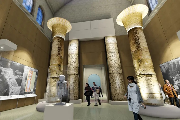 Soaring, 40-foot portal and columns of a temple from the palace of Merenptah will be displayed intact for first time.