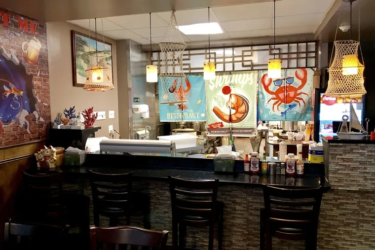 The counter at Shaking Seafood, 243 S. 10th St.