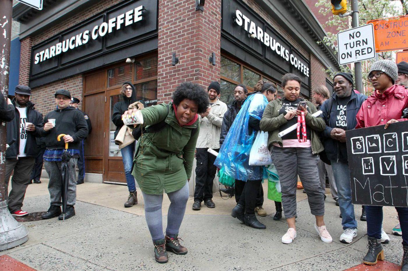 Starbucks CEO in Philadelphia as protests resume at Center City Starbucks where two black men were arrested