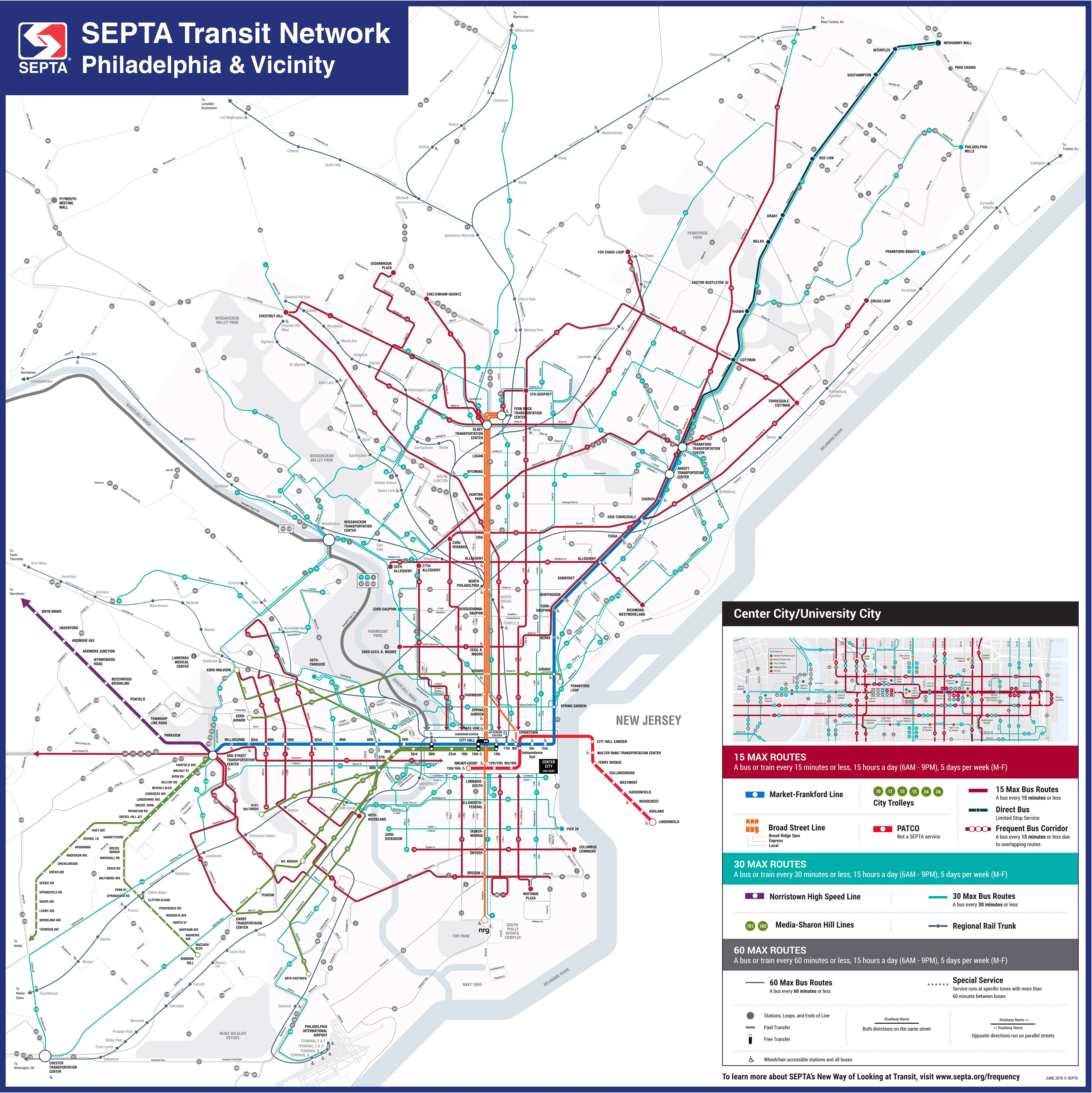 Philly Subway Map.After Fine Tuning Septa S New Transit Map To Debut