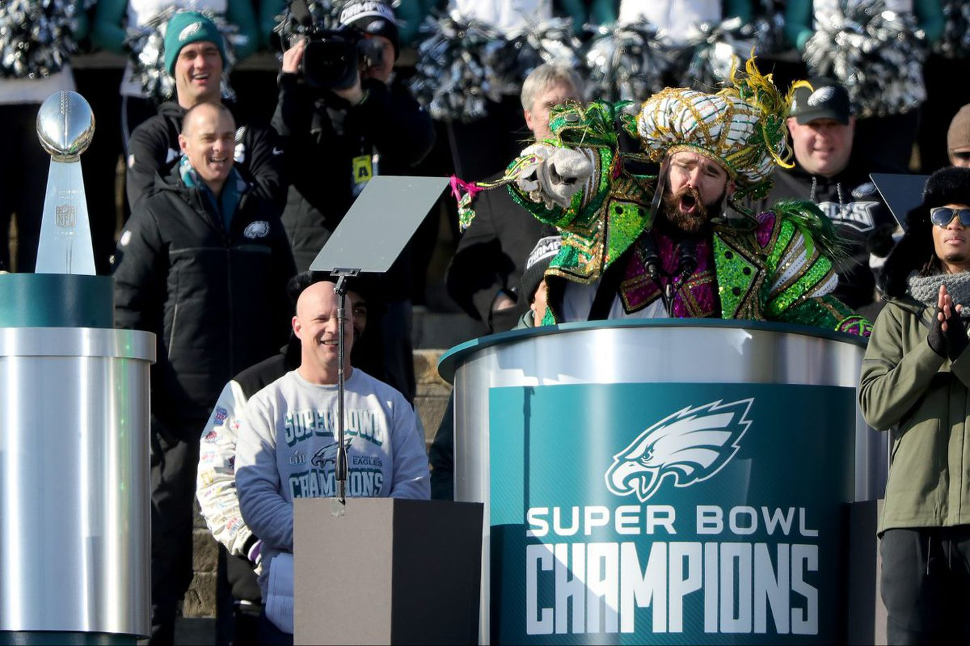 From mayor to president, Jason Kelce's Wikipedia page gets heavily edited