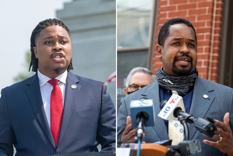 State Rep. Malcolm Kenyatta, left, and Sen. Sharif Street are both interested in the U.S. Senate. But some insiders see Kenyatta as jumping ahead of Street with his campaign instead of waiting his turn, and a generational divide and a perceived lack of respect have stoked strained relations between them.
