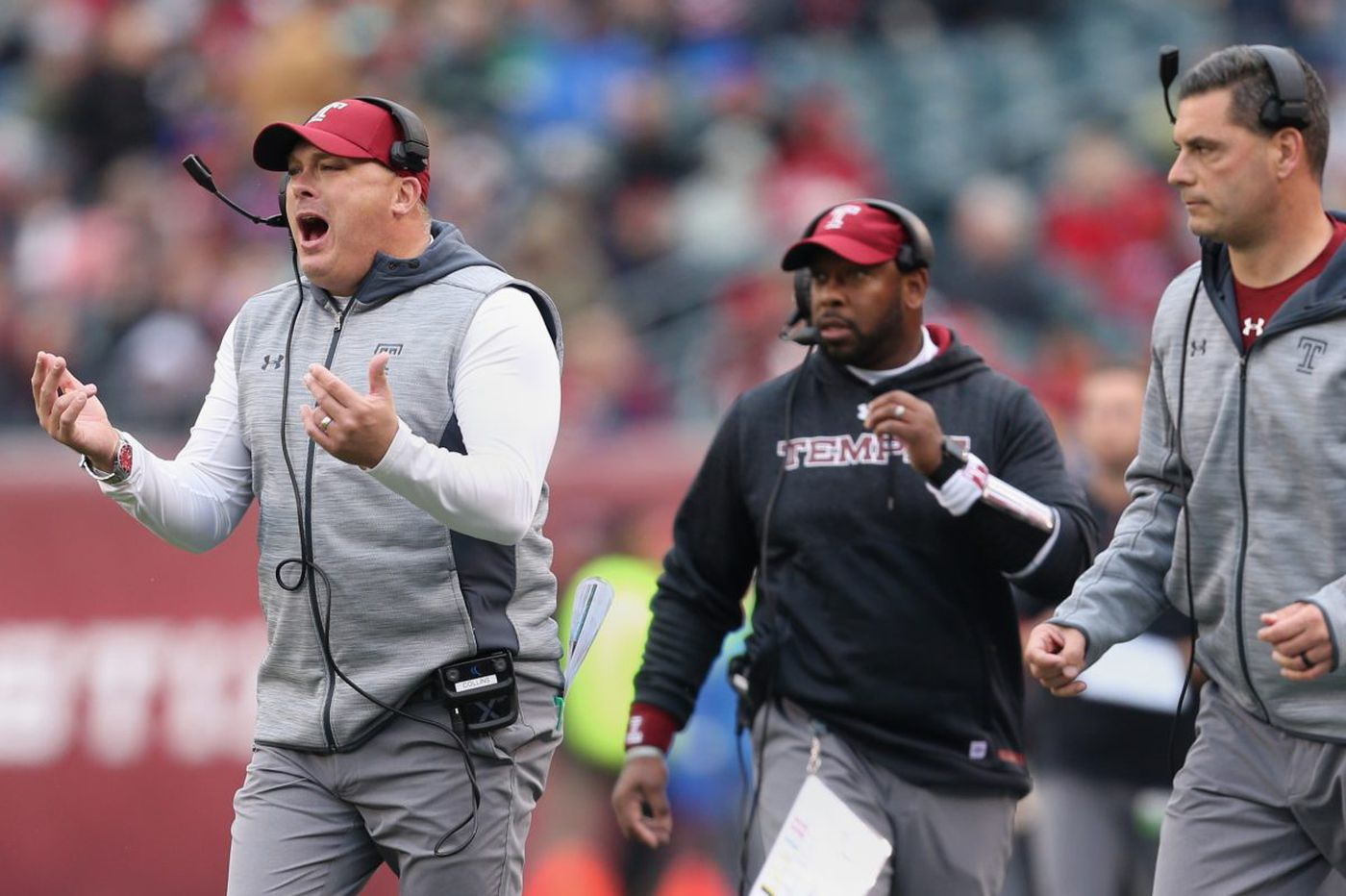 Temple coach Geoff Collins meets a second time with Georgia Tech about its coaching job