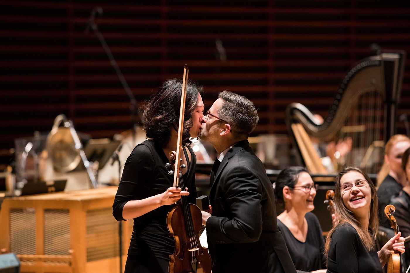 Philadelphia Orchestra couple hits all the right notes in on-stage Valentine's Day proposal