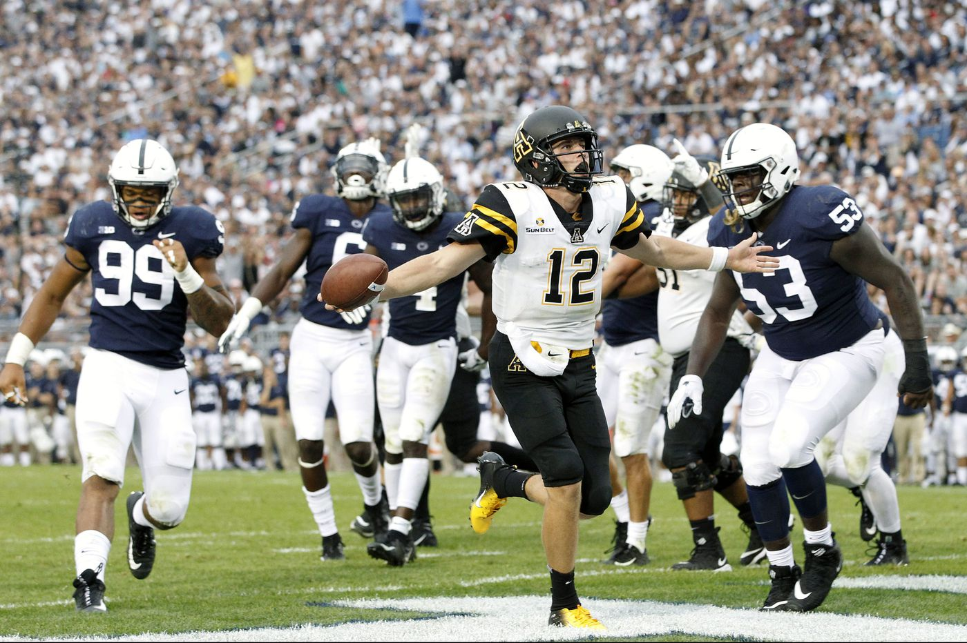 Appalachian State flirts with college football upset history again in Penn State game