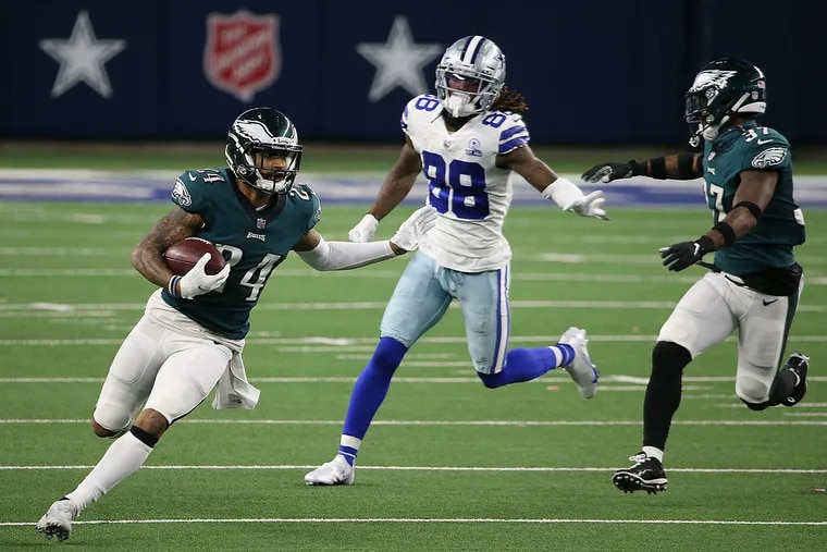 Darius Slay's third-quarter interception in Sunday's loss to the Cowboys was just the Eagles' sixth of the season.