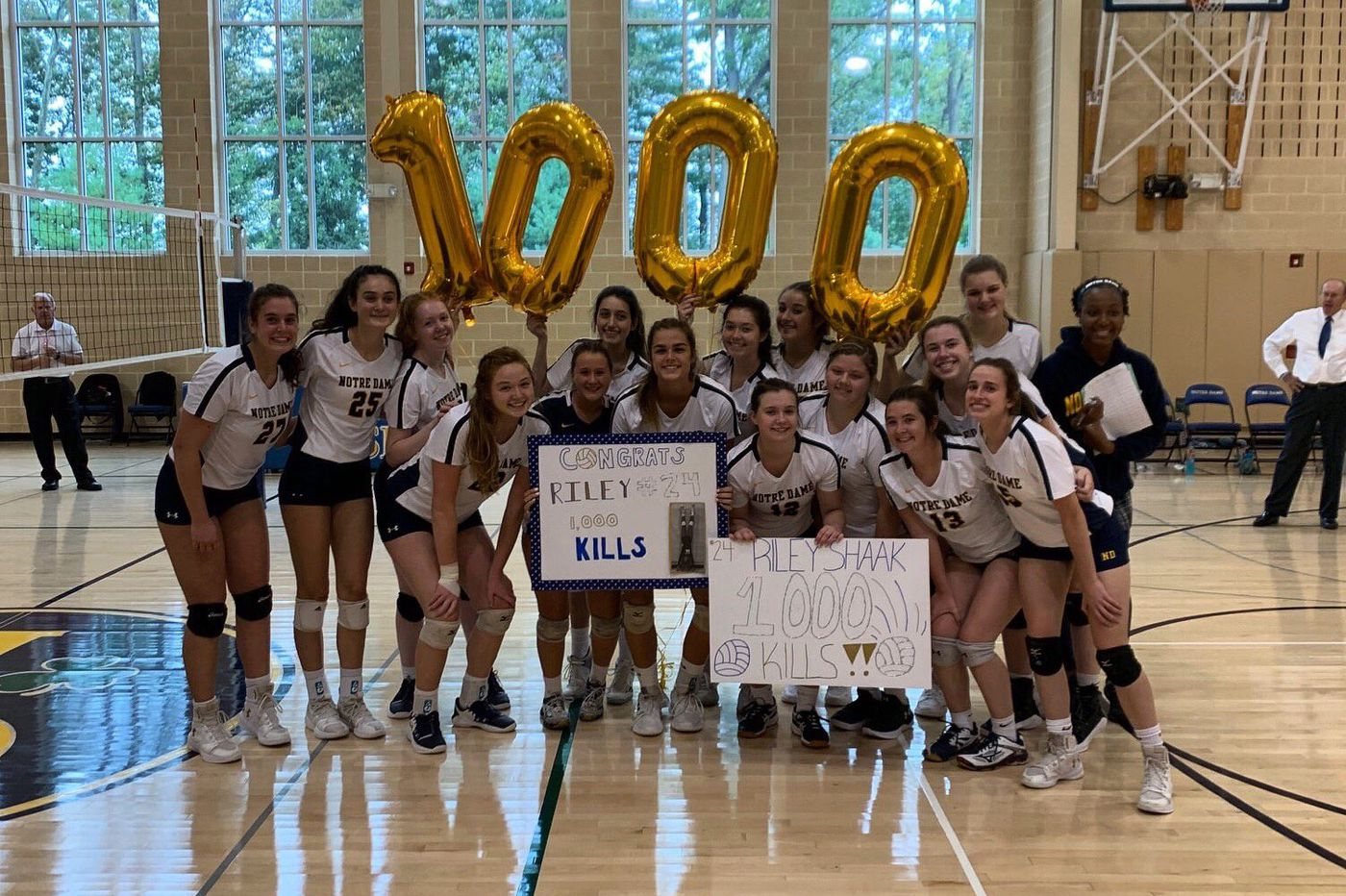 Wednesday's Southeastern Pa. roundup: Riley Shaak records 1,000th kill in Notre Dame Volleyball win