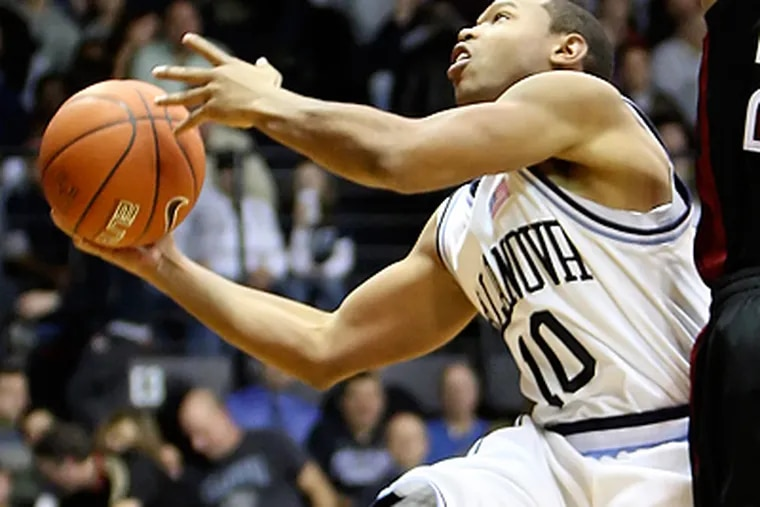 Corey Fisher averages 15.5 points per game this year but was held to five points against Temple. (Steven M. Falk/Staff Photographer)