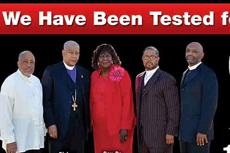 Billboards around Philadelphia feature prominent local black clergy openly challenging their community to talk about HIV, an infection that is devastating the African American community.