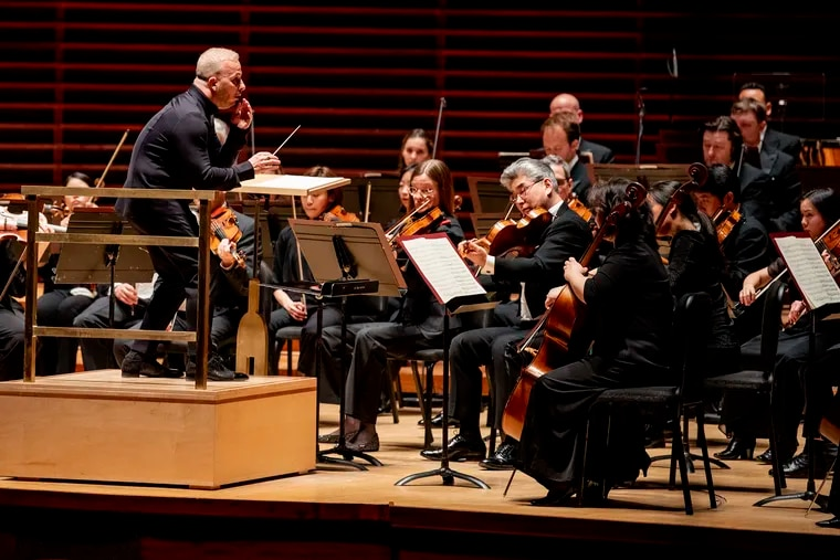 Philadelphia Orchestra Music Director Yannick Nézet-Séguin conducts the orchestra at the Kimmel Center in March with no audience in Verizon Hall