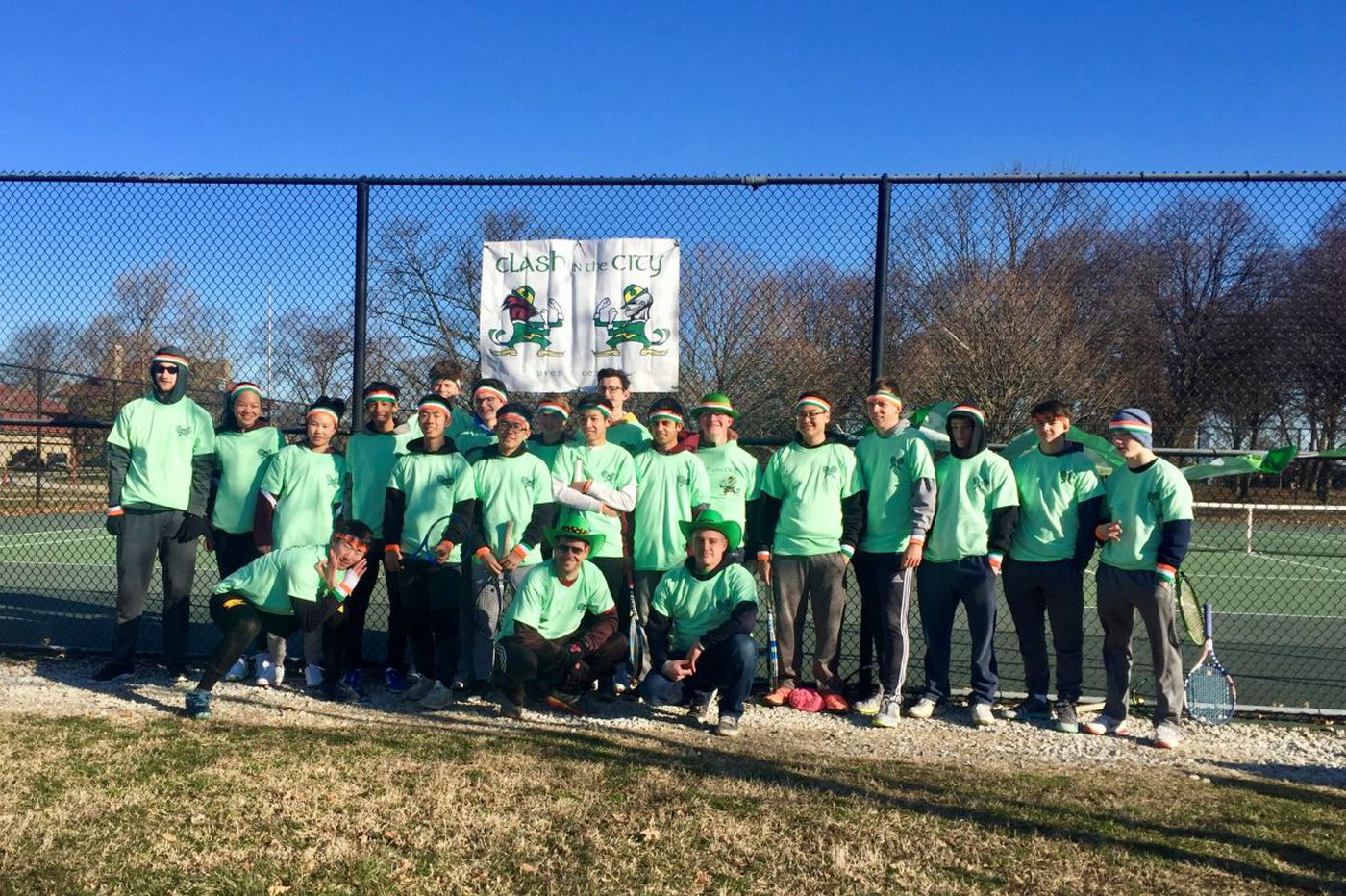 Central and St. Joseph's Prep tennis teams combine for annual 'Clash in the City' tradition