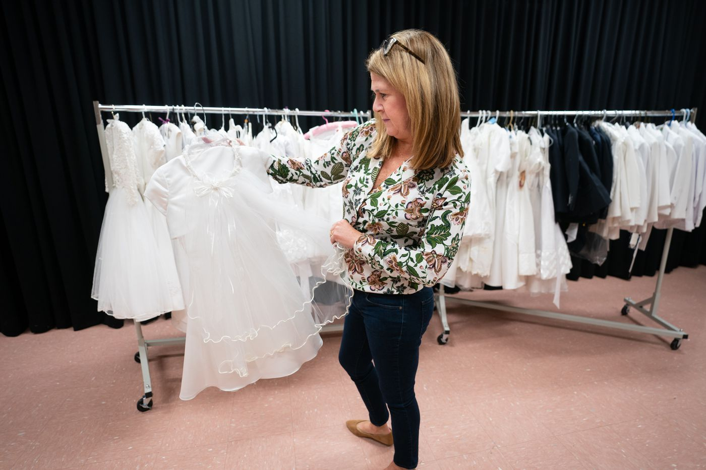 Catholics are turning to Communion Closets to borrow those white dresses and suits for their kids