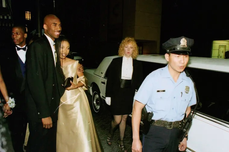 """Kobe Bryant and singer/actress Brandy Norwood arrived at the Bellevue Hotel in Center City Philadelphia for the Lower Merion High School prom in May 1996. The pulled up in a white stretch limo. """"There was a certain sense of fame,"""" recalled classmate Stacy Moscotti Moore. """"Even trying to be normal, still it was like, wow. There are famous people over there, and there's the security detail."""""""