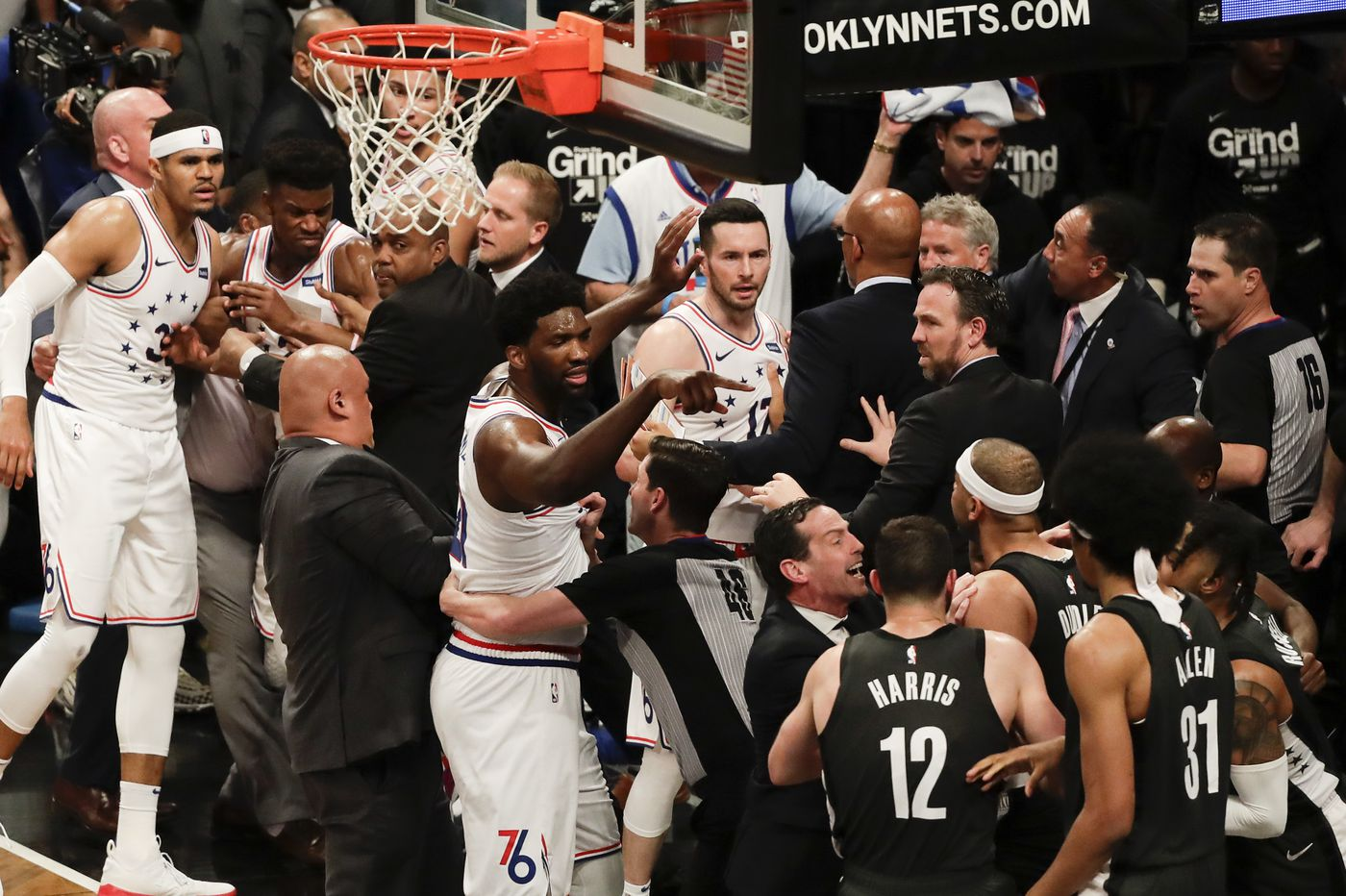 Sixers' Jimmy Butler, Nets' Jared Dudley fined after Game 4 melee