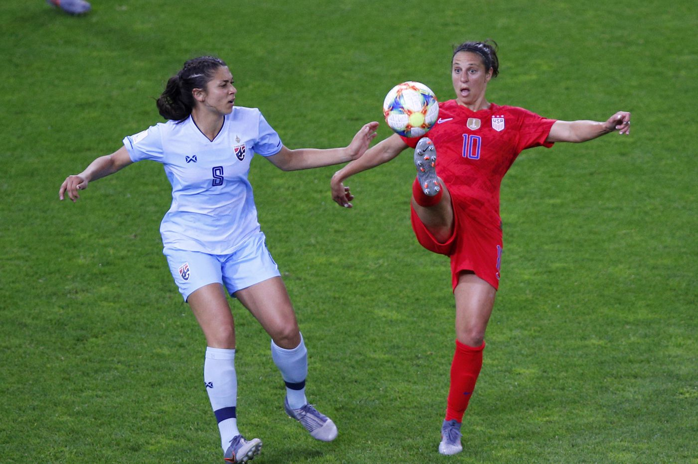 Carli Lloyd raring to go for USWNT's next World Cup game, against Chile in Paris