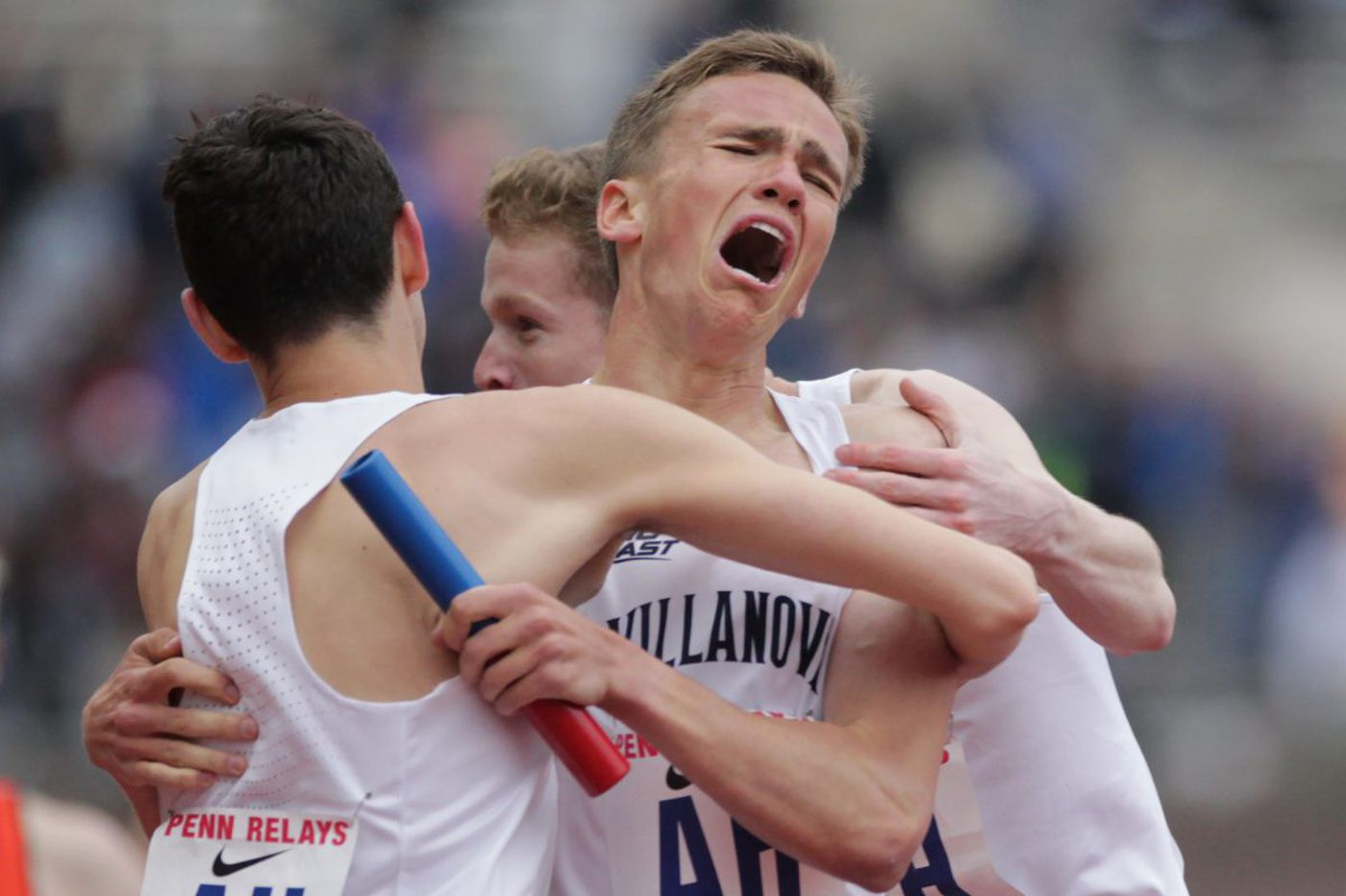 Inspired Villanova men win distance medley relay at Penn Relays