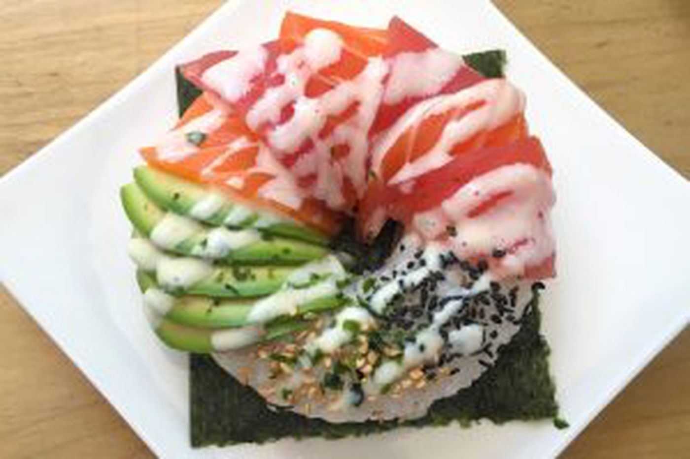 Sushi donut: Something new around here