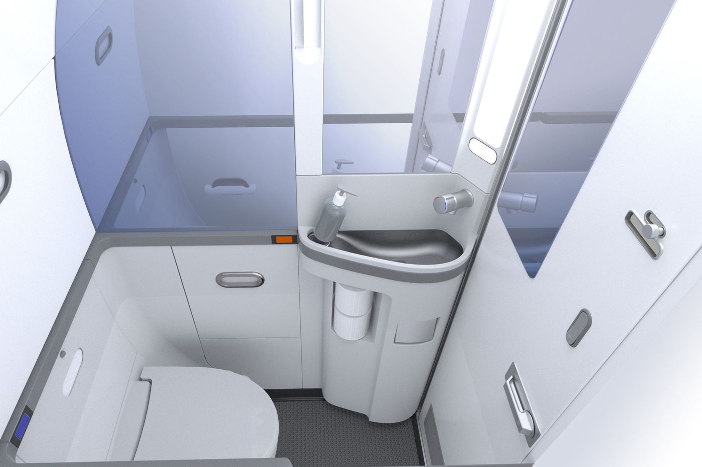 Could you fit in this airplane bathroom?