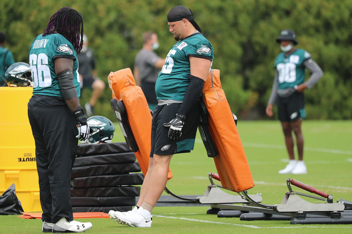 Now that Eagles tackle Lane Johnson got his left ankle fixed, he's ready to beat the Rams