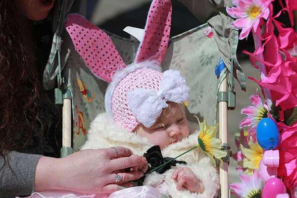 Easter fashions parade on Ocean City's boardwalk