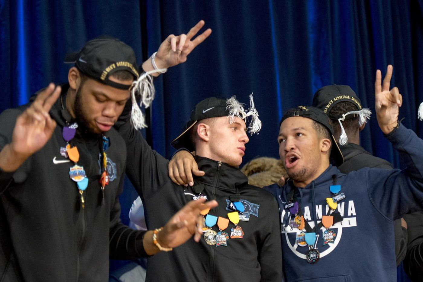 Villanova basketball team returns home and celebrates NCAA title with fans
