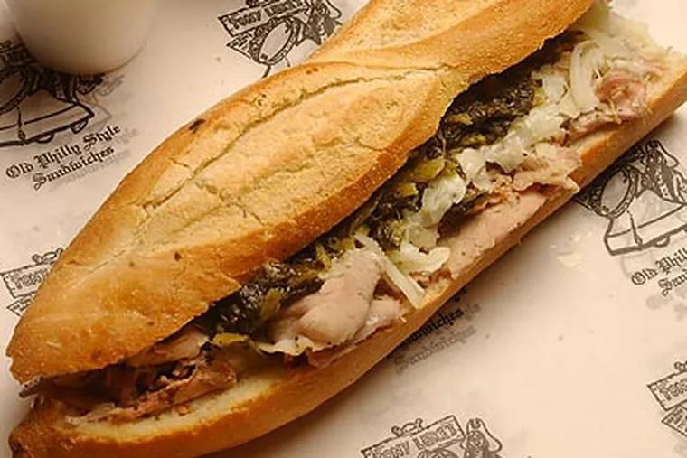A Tony Luke's roast pork sandwich. (Michael Bryant/Staff file photo)