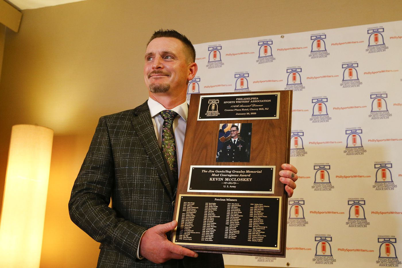 Veteran from Tacony who lost his legs in Afghanistan wins Philly sportswriters' award for courage