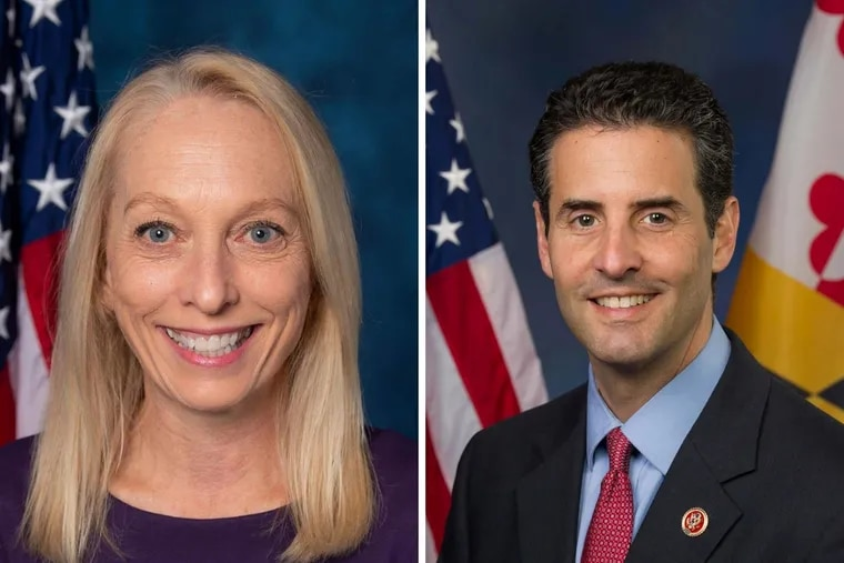 Mary Gay Scanlon, Congresswoman for Pennsylvania's 7th Congressional District, and John Sarbanes, Congressman for Maryland's 3rd Congressional District