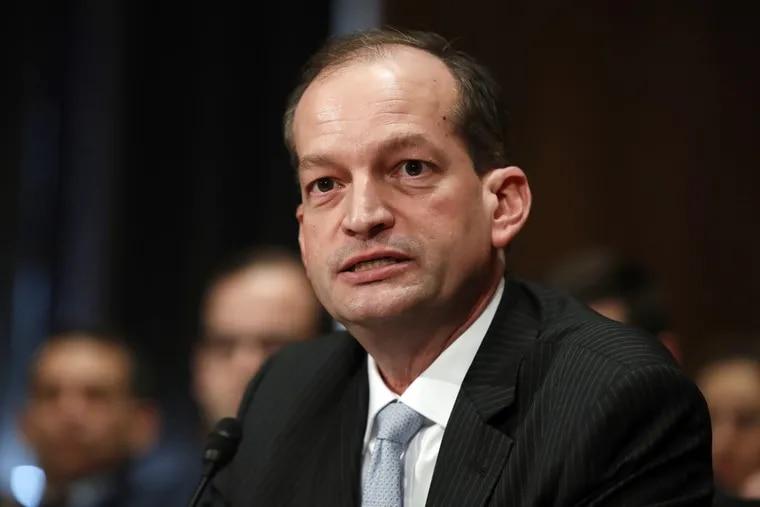 U.S. Labor Secretary Alexander Acosta.