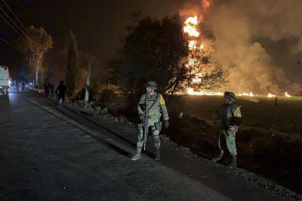 Death toll reaches 73 in Mexico fuel pipeline fire horror