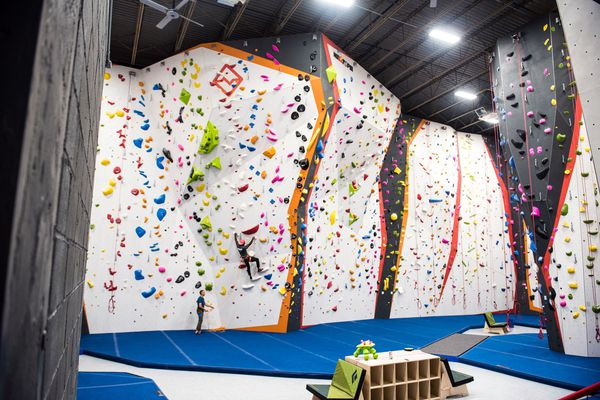 Inside the Cliffs, Philly's largest rock climbing gym, opening this weekend